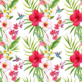 Flamingo behangpapier groen dd116608