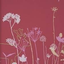 Lef bloemen behang 48921 roze