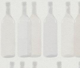 Behangpapier Wijnflessen 586005