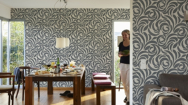 modern behang lambrisering 95476-2