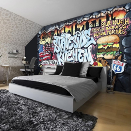 For Wall Fotobehang Graffiti 2154P8