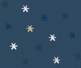 Kids Club 234008 kleine Sterren behang blauw