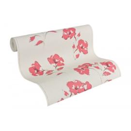 Bloemen Behang Rood 95750-6