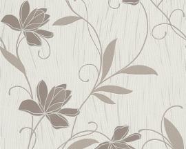 Behangpapier Bloemen Glitter Bruin Beige 9496-46