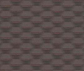 Strepen Geweven Behang Bruin 726434
