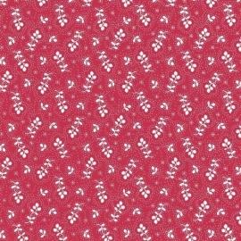 Behangpapier Rood Wit Bloemen 310070