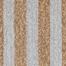 Rivièra Maison behang 18310 Plantationa Rattan Stripe
