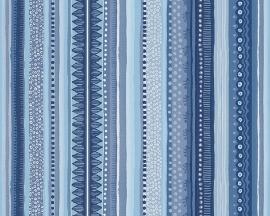 Oilily Home strepen behangpapier 96127-3 blauw