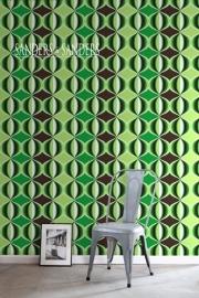 Sanders & Sanders behangpapier 935230 retro groen