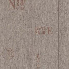 Behangpapier Houtbehang Bruin  6945-11
