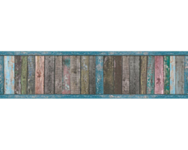 Hout behangrand  gekleurd 36860-1