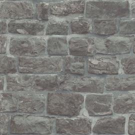 Behangpapier Stenen Grijs  5818-15