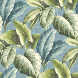Bladeren Behang Natuur BA2403 blauw