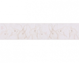 Lovely Friends konijnen kinder behangrandpapier 30330-3