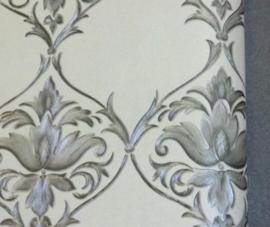 versace behang barok grijs zilver 906