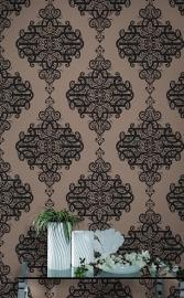 785456 bruin behang  luxe ornamenten barok