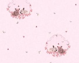 baby konijn behang poesjes 35564-1