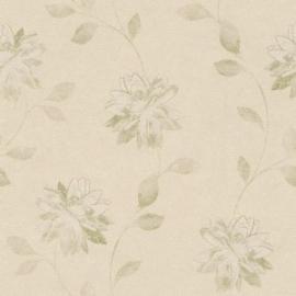 Bloemen Behang Creme 425154