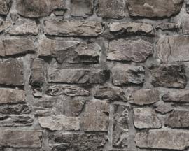 Steen behang zwart 36370-4