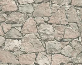 Steen behang 3d natuursteen landelijk 30380-1