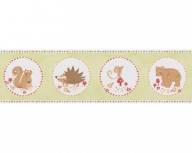 Lovely Friends behangrandpapier 30309-1 groen