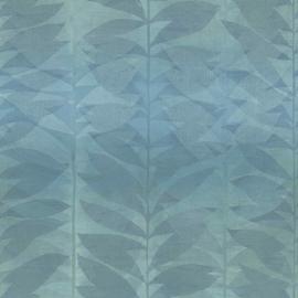 Bloemen Behang bladeren BA2107 blauw