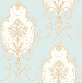 Barok behang groen goud fd23251