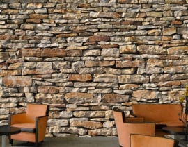 Fotobehang Amerikaanse stenen muur