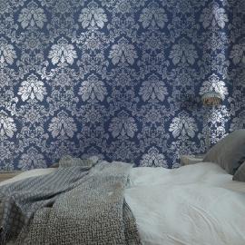 blauw barok behang vlies 26148 juvita