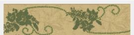 behangrand goud groen xx12