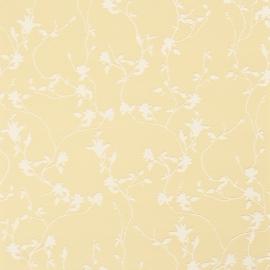 Fleurie bloemen behang 48393 geel