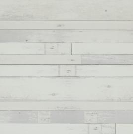 kleine plankjes hout behang 49771