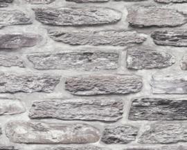Steen behang grijs 36478-1