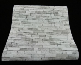 grijs steen behangpapier 3D