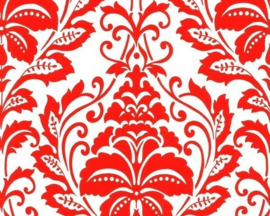barok behang vlies rood wit 116