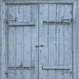 Oude Luiken blauw Behang 525021