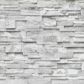 Steen behangpapier grijs 3d