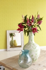 Bloemen Behang Geel, Groen 321822