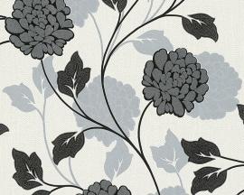 Behangpapier Bloemen Glitter Zwart Grijs  96224-2