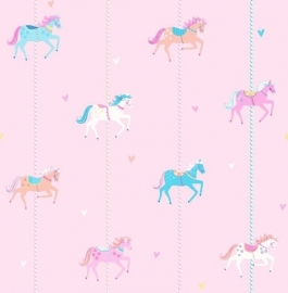 Carousel kinder behang DL21119 Horses