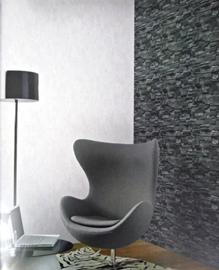 zwart steen behangpapier 3D
