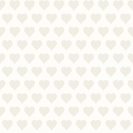 Love behang 136811 Hearts white