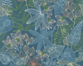 Colibri behang 36630-1 bloemen