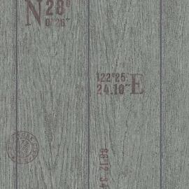 Behangpapier Houtbehang Grijs  6945-15
