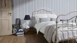 vliesbehang strepen wit blauw 93538-1 AS modern
