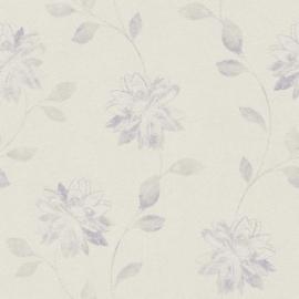 Bloemen Behang Paars 425178