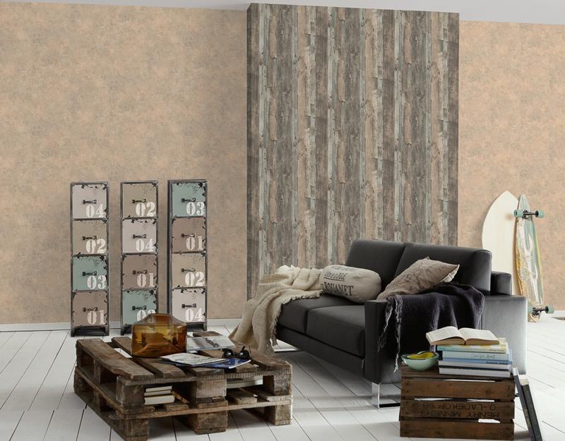 Decoworld behangpapier 95405-2 hout