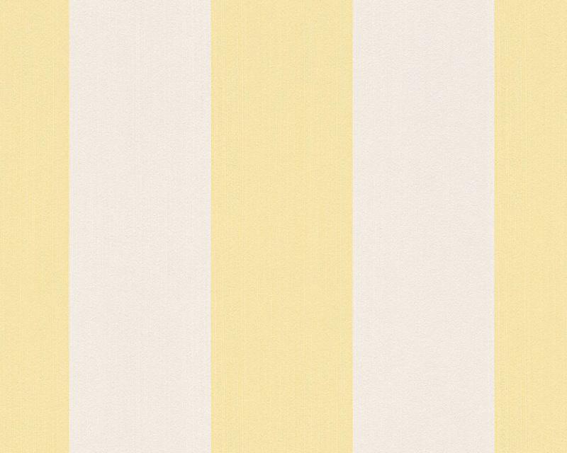 geel strepen behang vlies 303781