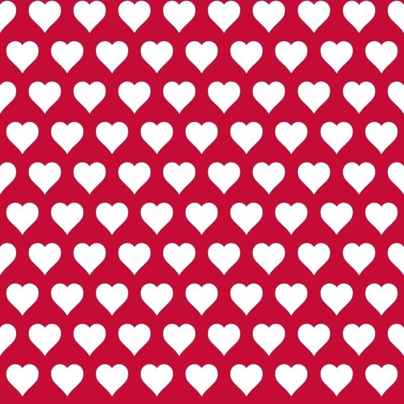 Love behang 136813 Hearts red & white
