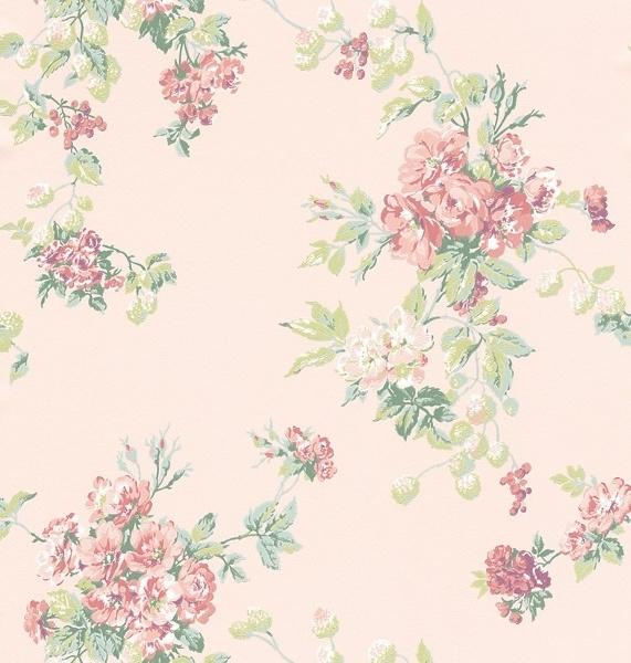 Engelse Bloemen behangpapier 296739